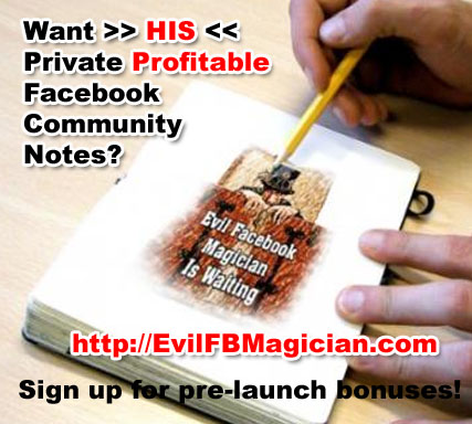 Evil Facebook Magician Launches Soon – Here be me spotlights!